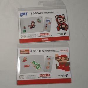 Super Mario Decal Packs